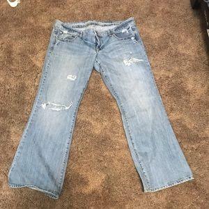 AE Favorite Boyfriend Jeans Distressed